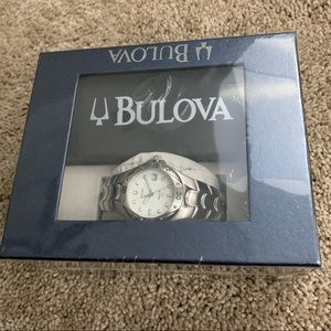 Bulova NIB New Stainless Steel Green Men's Watch